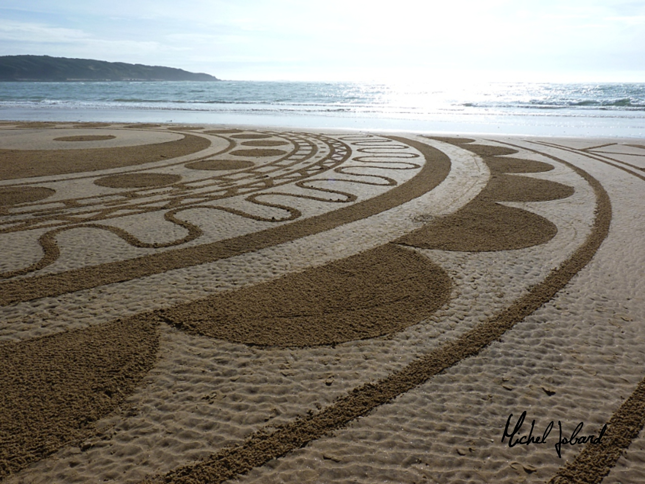 Fresque Beach art Yin et Yang, Michel Jobard