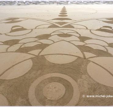 Fresque Beach art Eternity, Michel Jobard