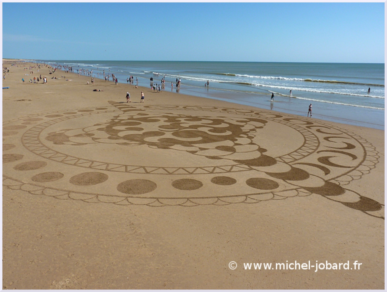 Fresque Beach art Soluna, Michel Jobard