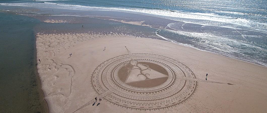 Fresque Beach art, L'œil Divin, Michel Jobard