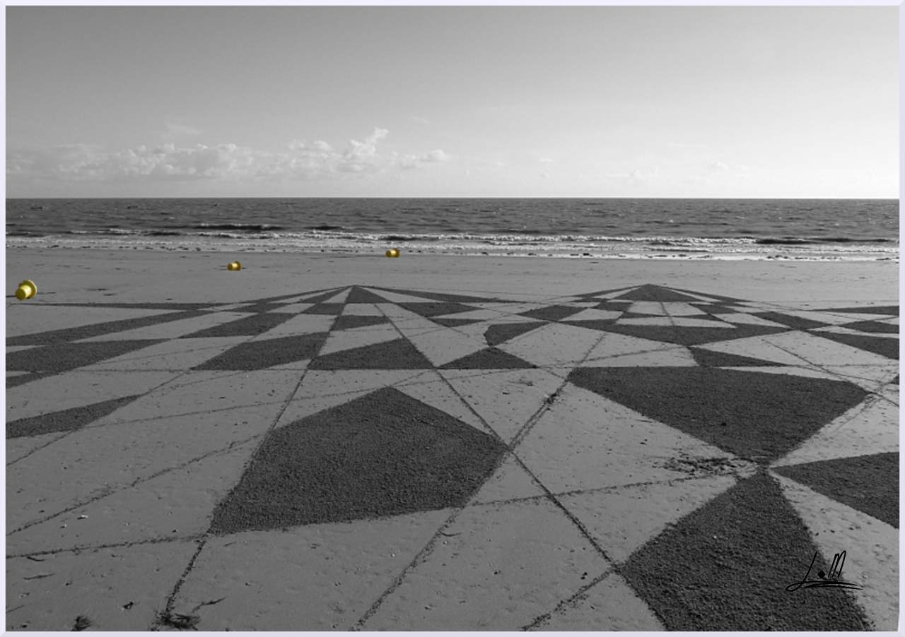 Fresque Beach art Barbatre, Michel Jobard