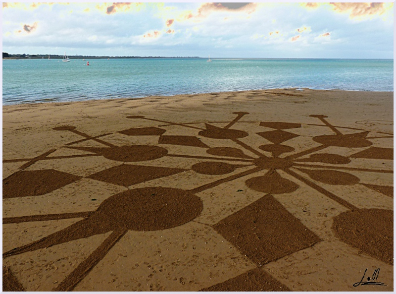 Fresque Beach art Flocon de neige, Michel Jobard