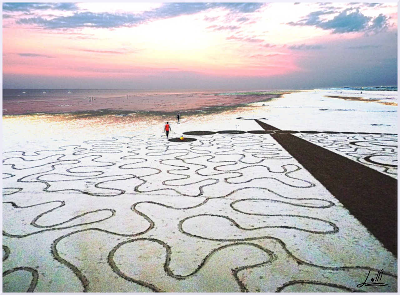 Fresque Beach art Imagine, Michel Jobard
