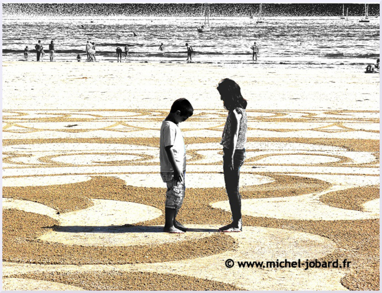 Fresque Beach art Ra ma da sa, Michel Jobard