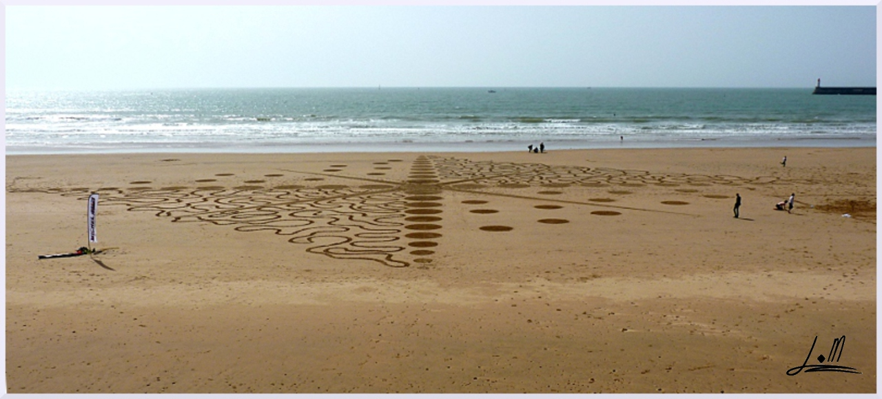 Fresque Beach art Stoa, Michel Jobard