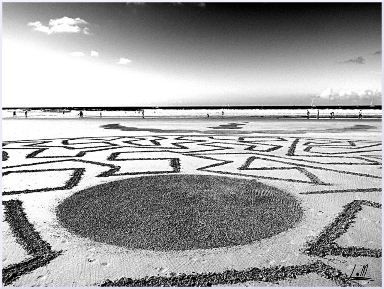 Fresque Beach art Un instant dans le vent, Michel Jobard