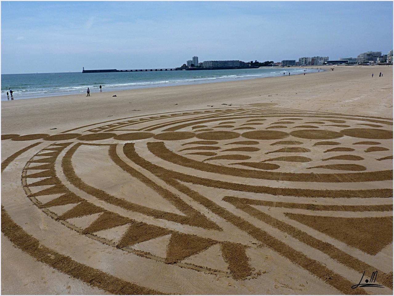 Fresque Beach art Indonesia, Michel Jobard