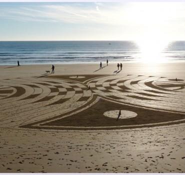 Fresque Beach art La quatrième dimension, Michel Jobard