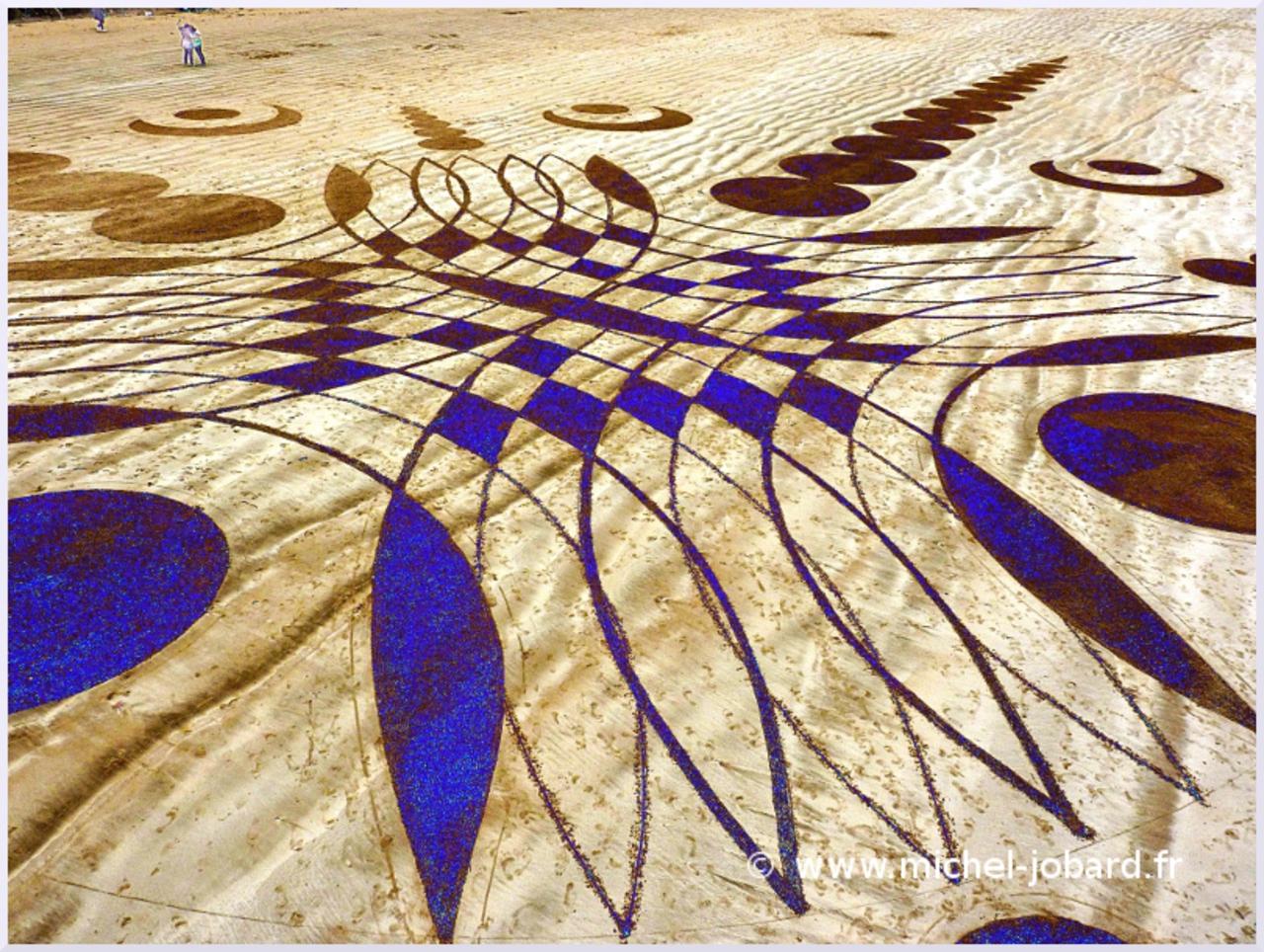 Fresque Beach art Laniakea, Michel Jobard