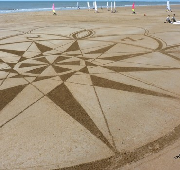 Fresque Beach art la rose d'Aleph, Michel Jobard