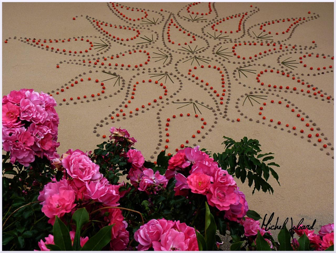 Land art Rose des vents, Michel Jobard