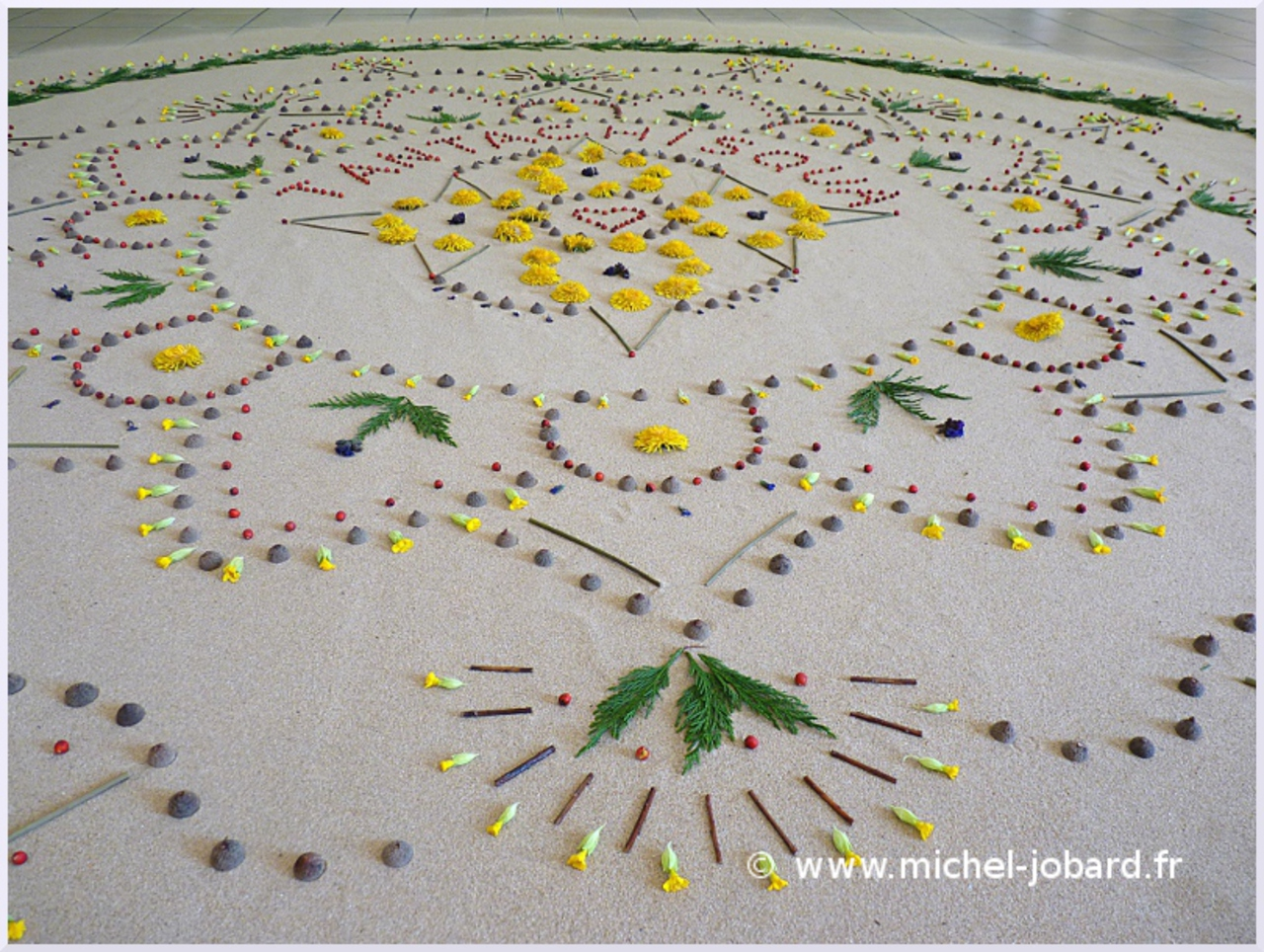 Fresque Land art Tantachisqua, Michel Jobard