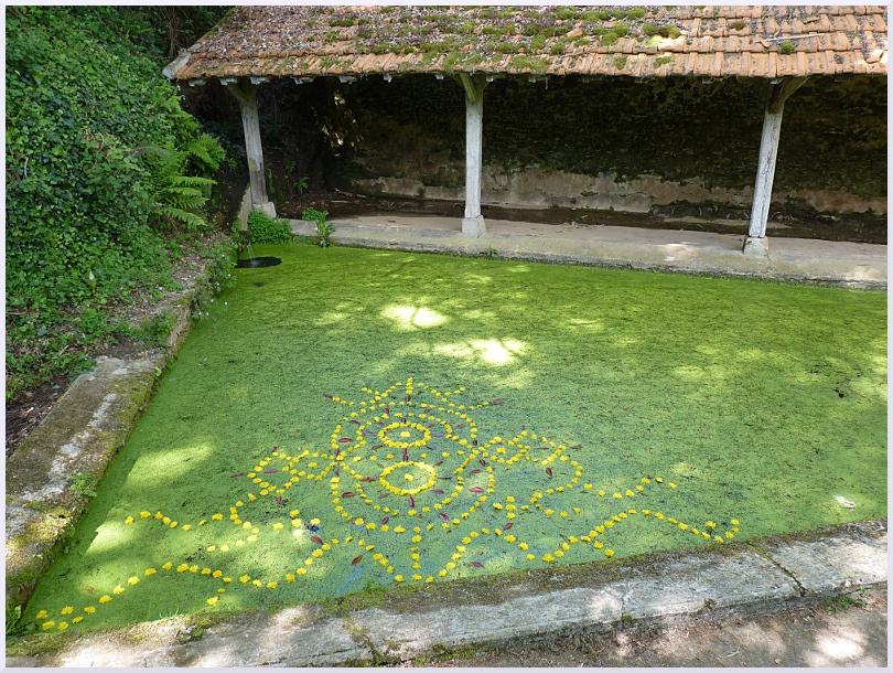 Fresque Land art Le lavoir, Michel Jobard