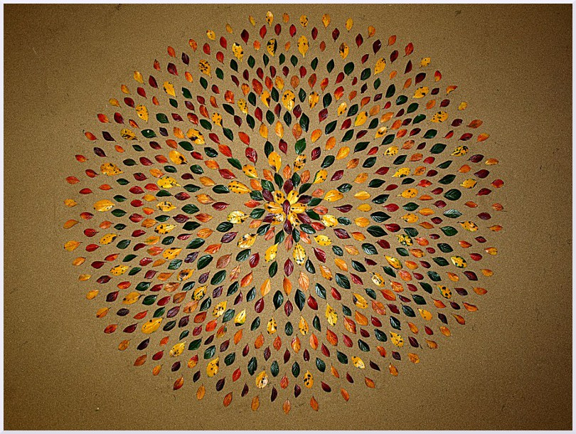 Land art Mandala, Michel Jobard