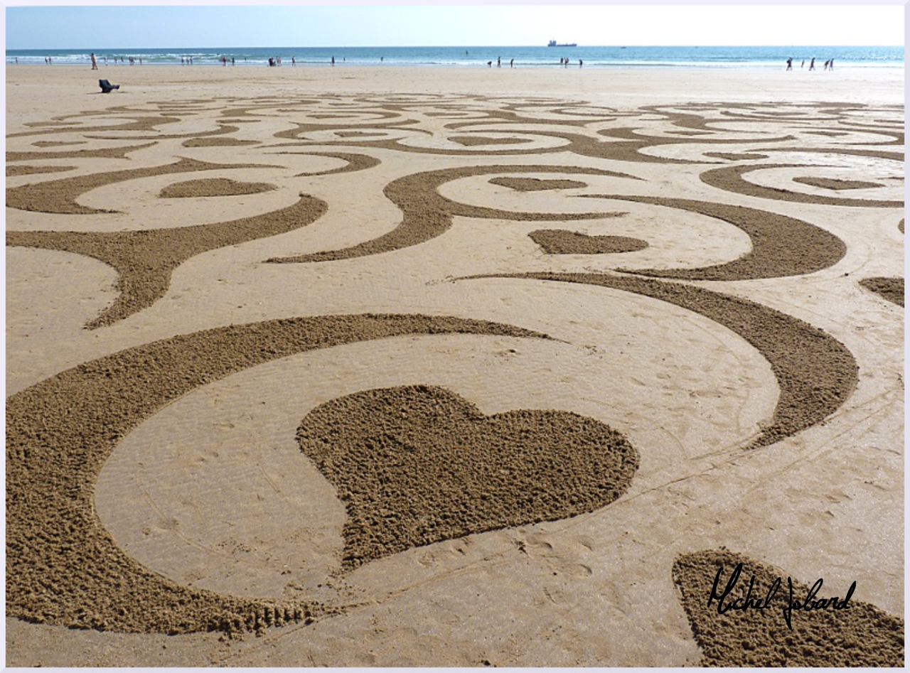 Fresque Beach art De tout coeur, Michel Jobard