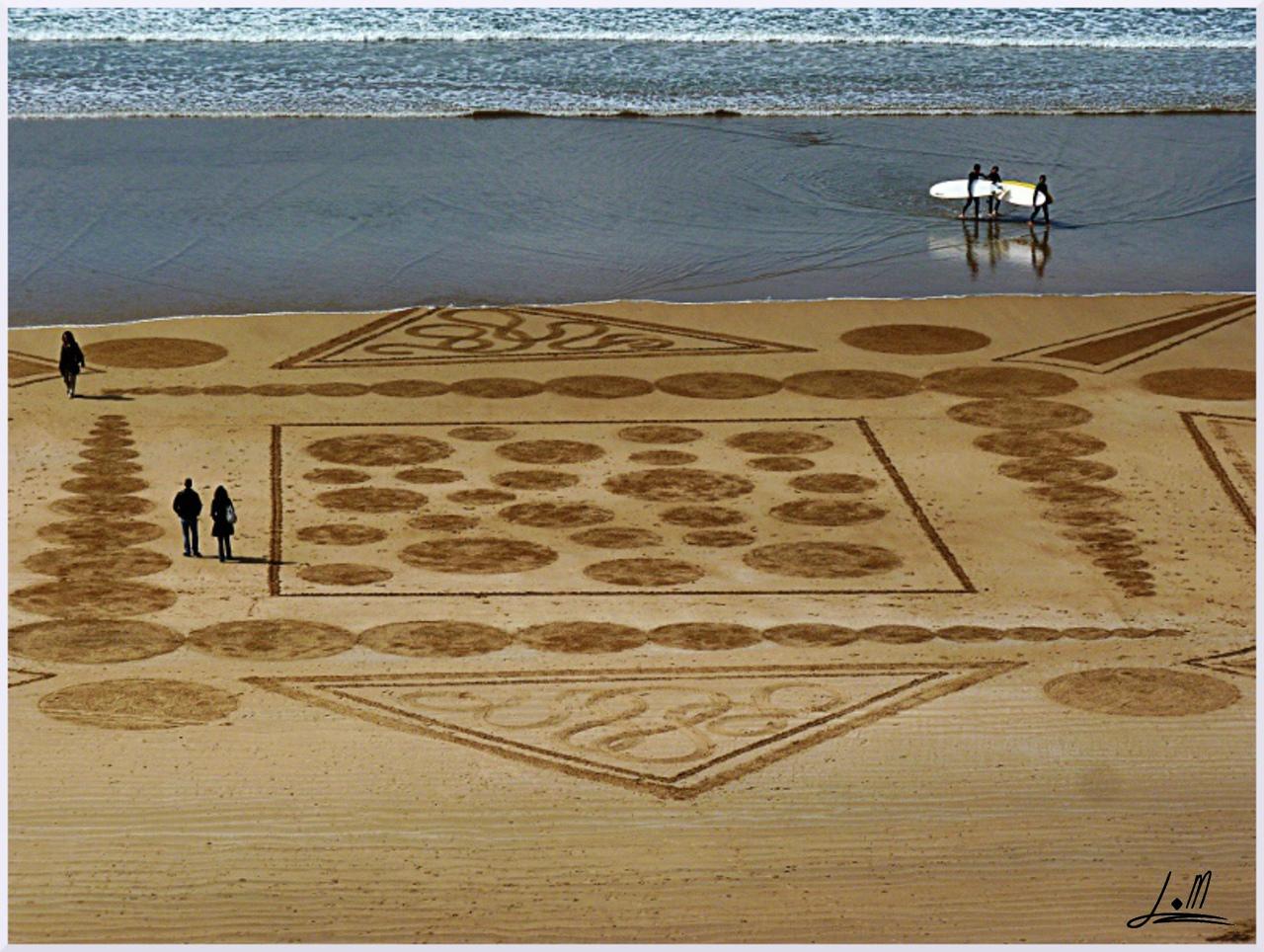 Fresque Beach art Embruns, Michel Jobard