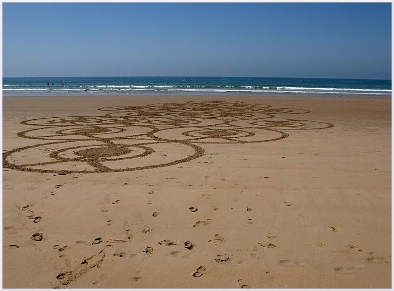 Fresque Beach art La roue qui tourne, Michel Jobard