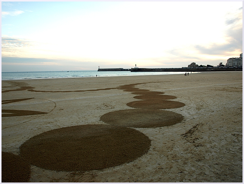 Fresque Beach art Ricochets, Michel Jobard