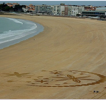 Fresque Beach art Rose des sables, Michel Jobard