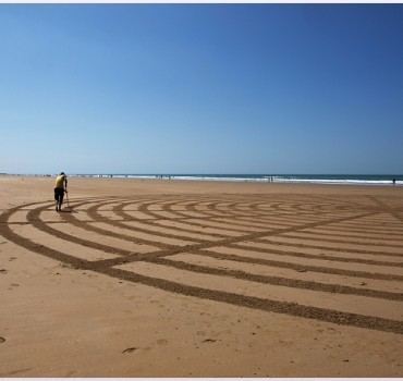 Fresque Beach art Spirale, Michel Jobard