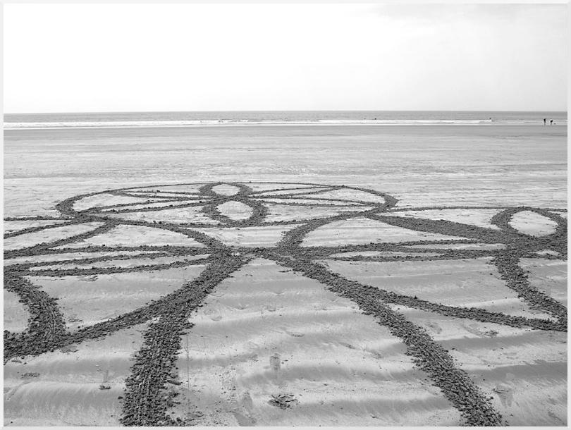 Fresque Beach art St Gilles, Michel Jobard