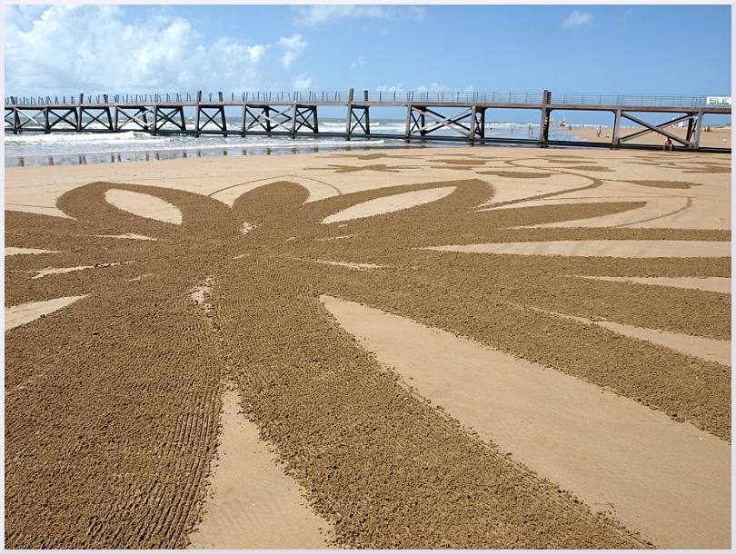 Fresque Beach art A fleur de sable, Michel Jobard