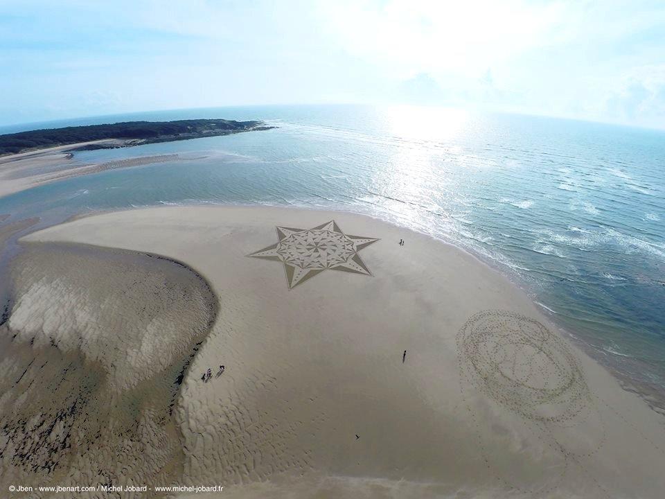 Fresque Beach art Eveil, Michel Jobard