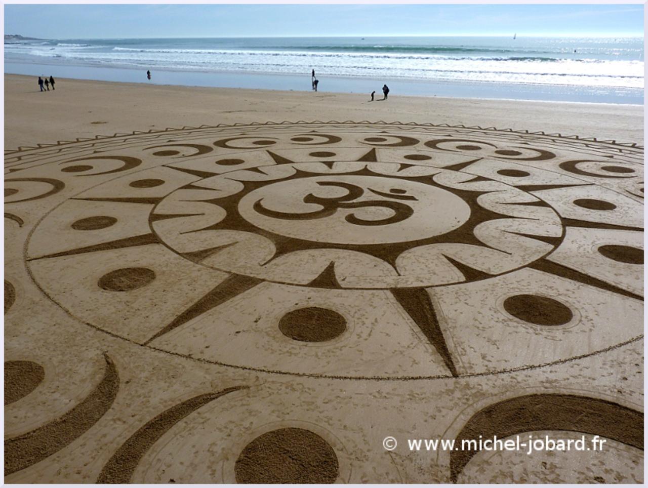 Fresque Sand art Ohm, Michel Jobard
