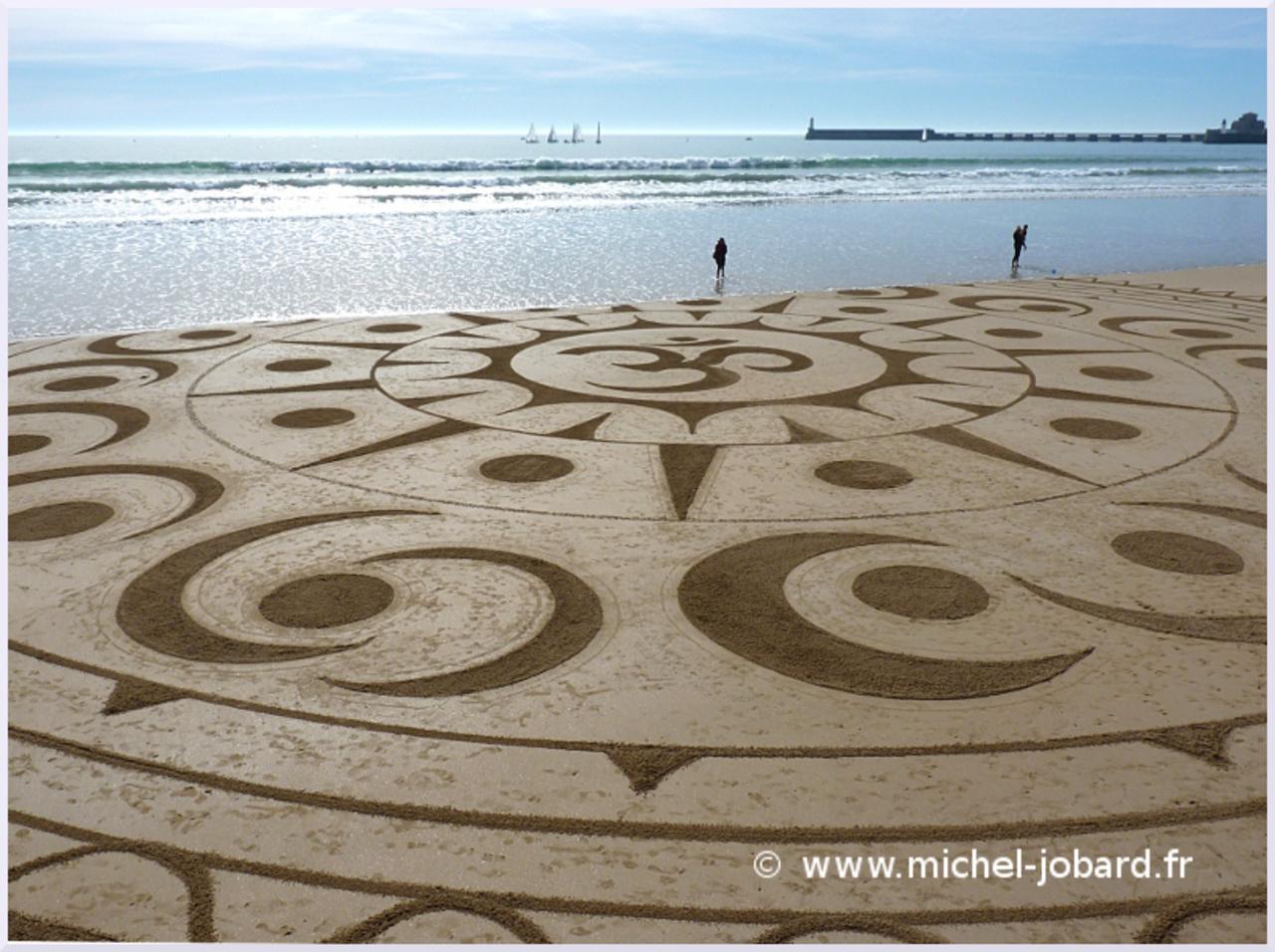 Fresque Sand art Ohm