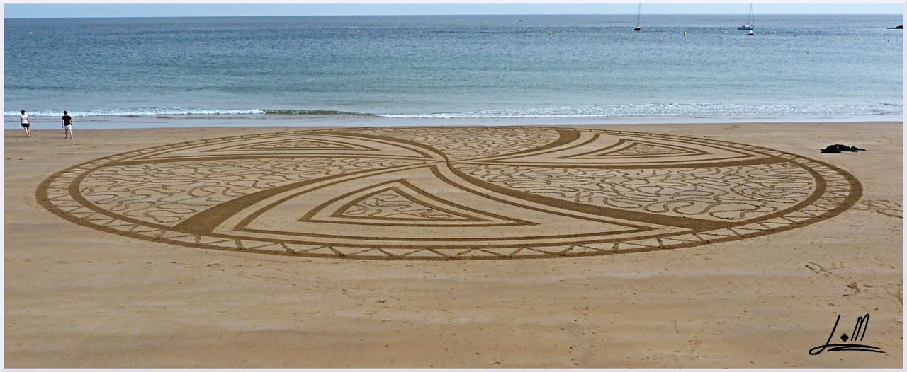 Fresque Beach art Oya, Michel Jobard