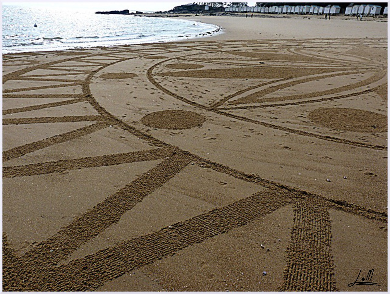 Fresque Beach art Plage des dames, Michel Jobard