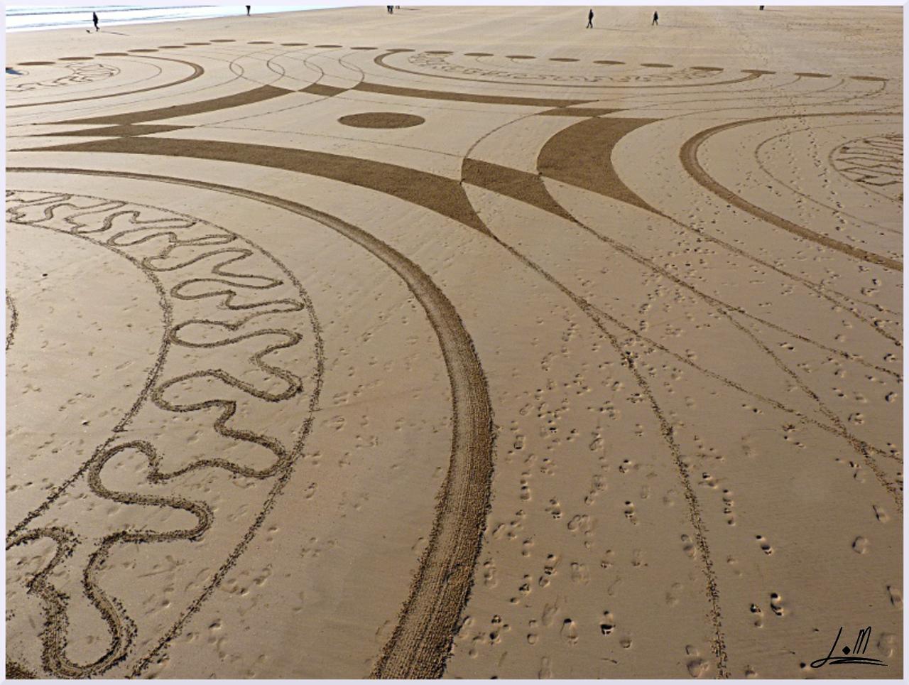 Fresque Beach art Seventeen, Michel Jobard