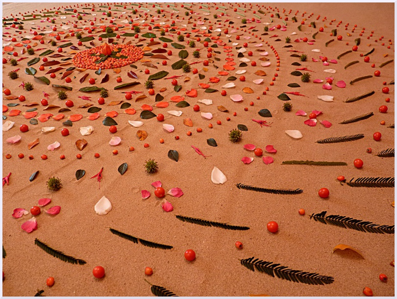 Land art Automne, Michel Jobard