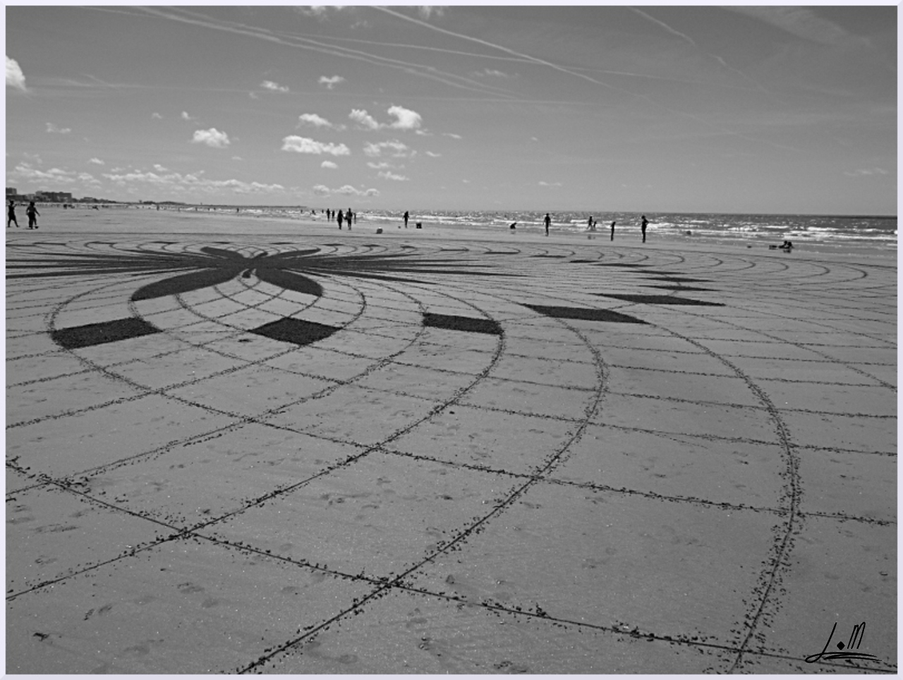 Fresque Beach art Esquisse, Michel Jobard
