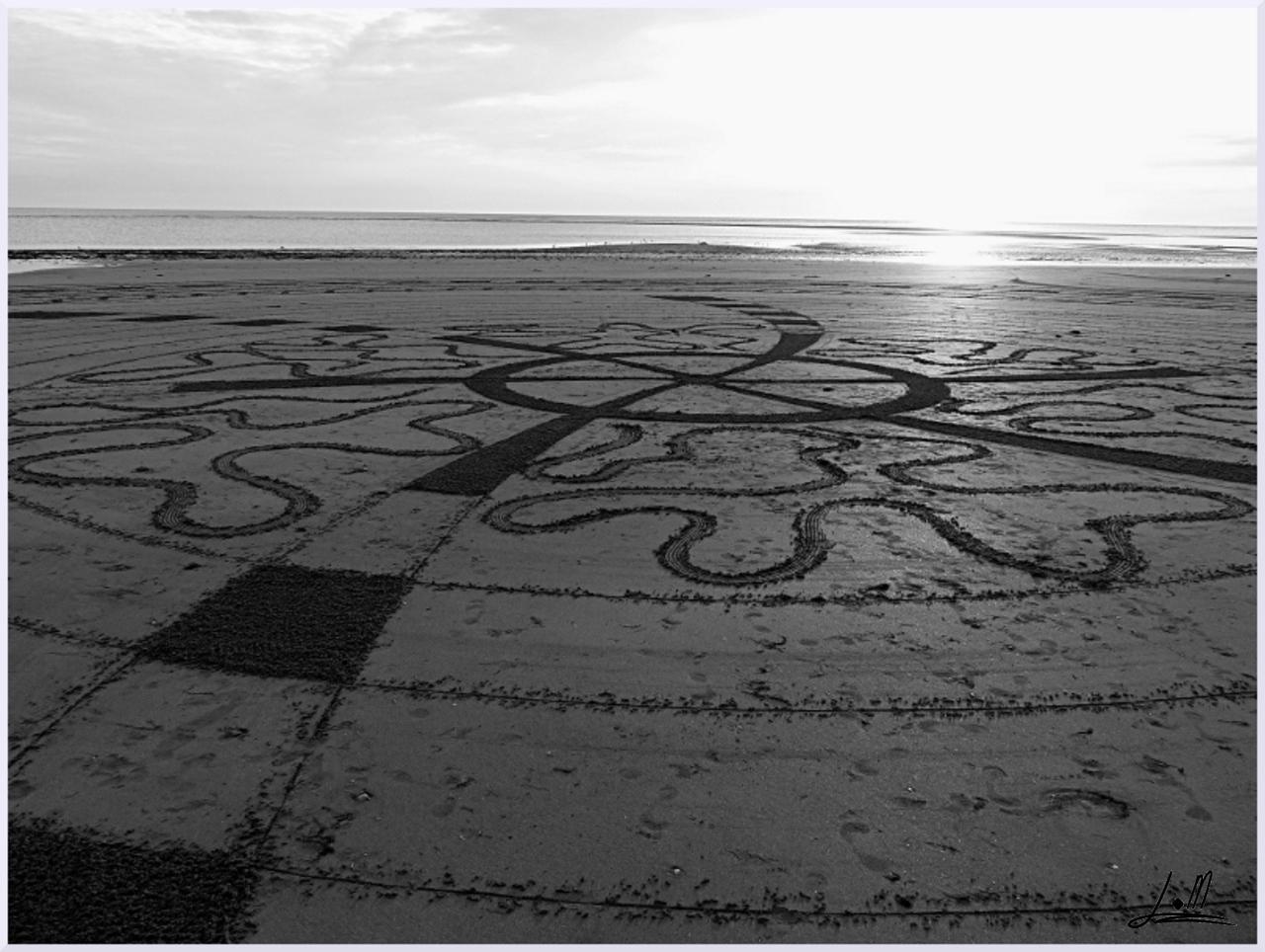 Fresque Beach art Galaxie, Michel Jobard