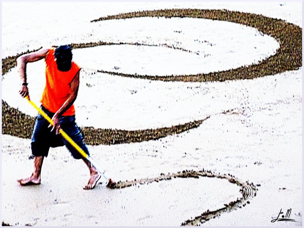 Fresque Beach art Imagine, Michel Jobard