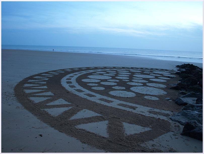 Fresque Beach art Le silence, Michel Jobard