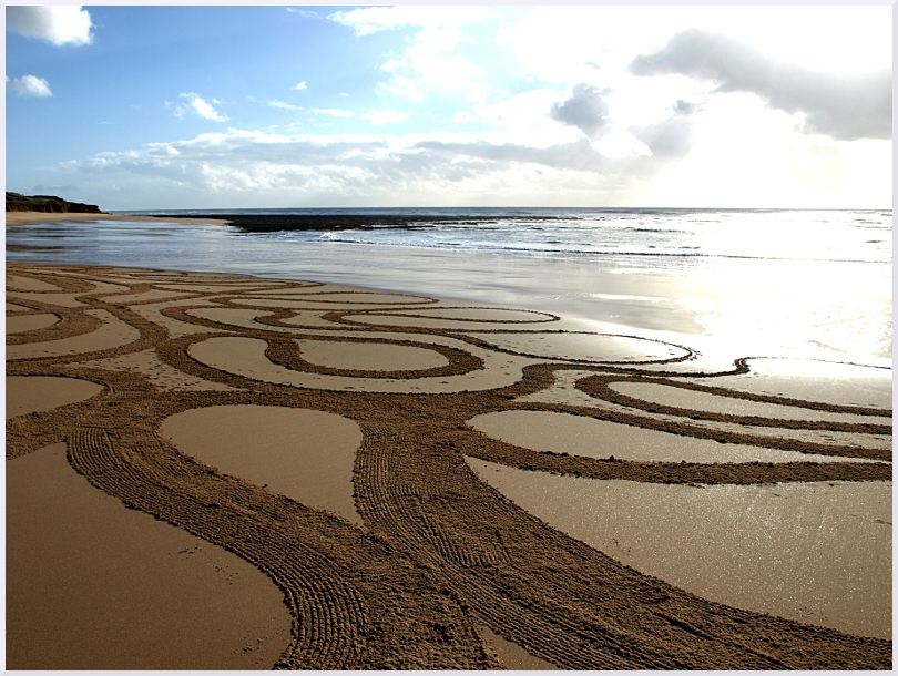 Fresque Beach art Plage de la mine, Michel Jobard