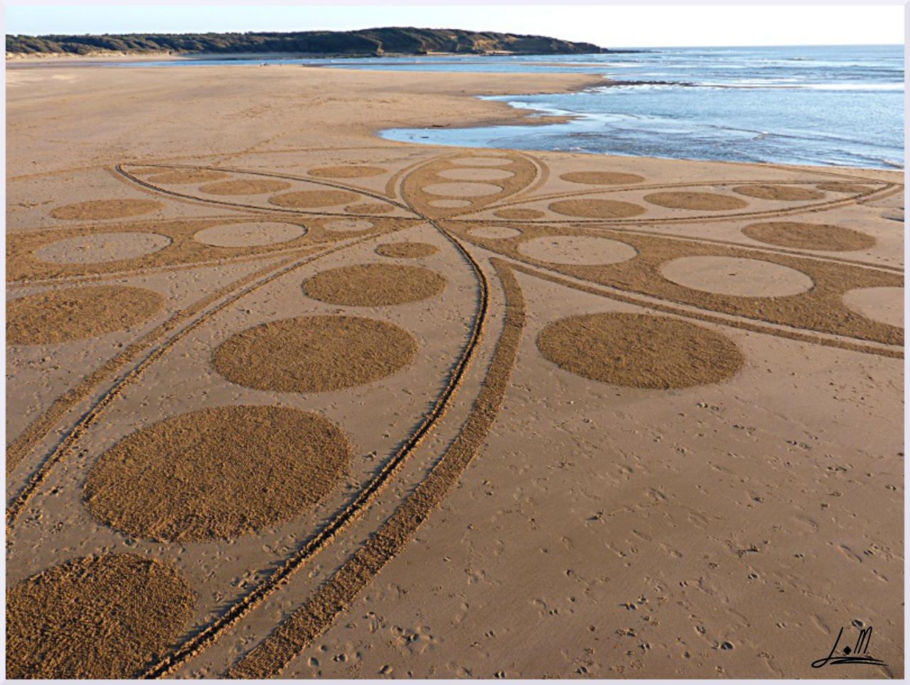 Fresque Beach art Rosace du Veillon, Michel Jobard