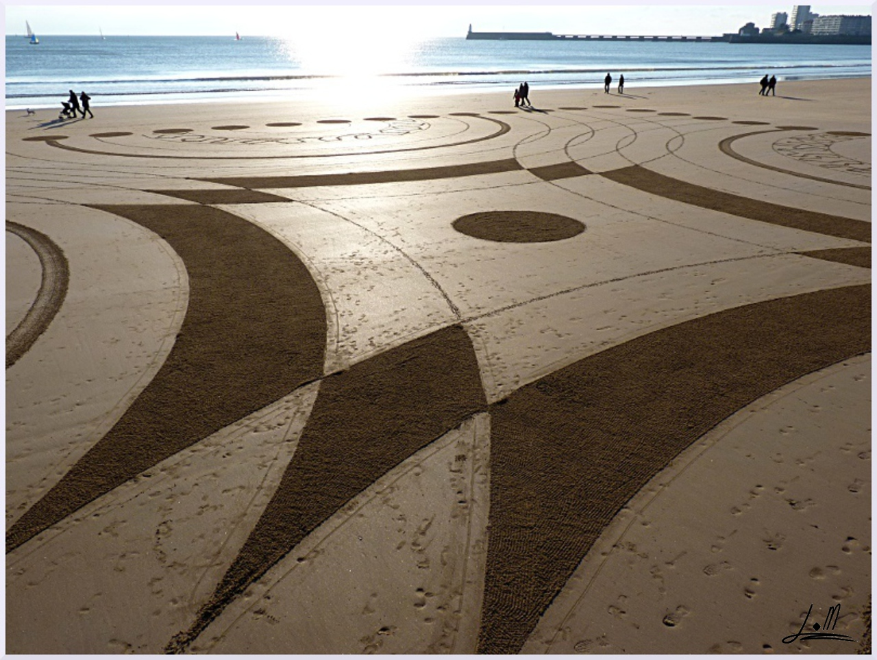Fresque Beach art Seventeen, Michel Jobard