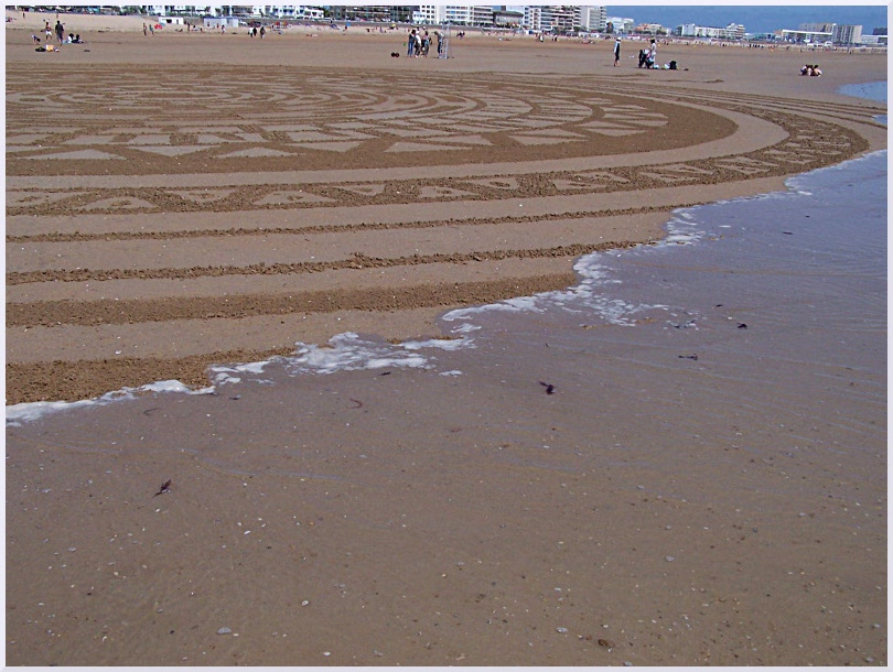 Fresque Beach art St Jean de Monts, Michel Jobard