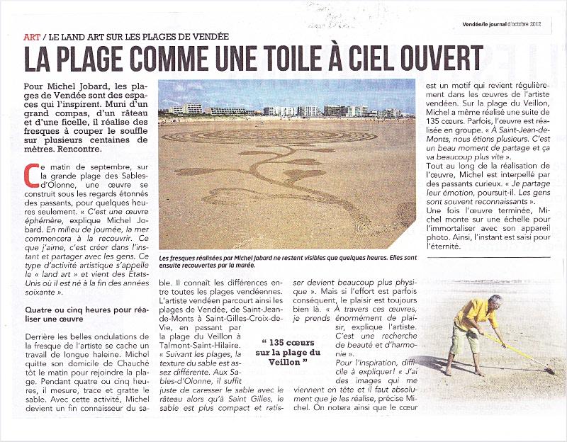 Article journal Vendée Michel Jobard