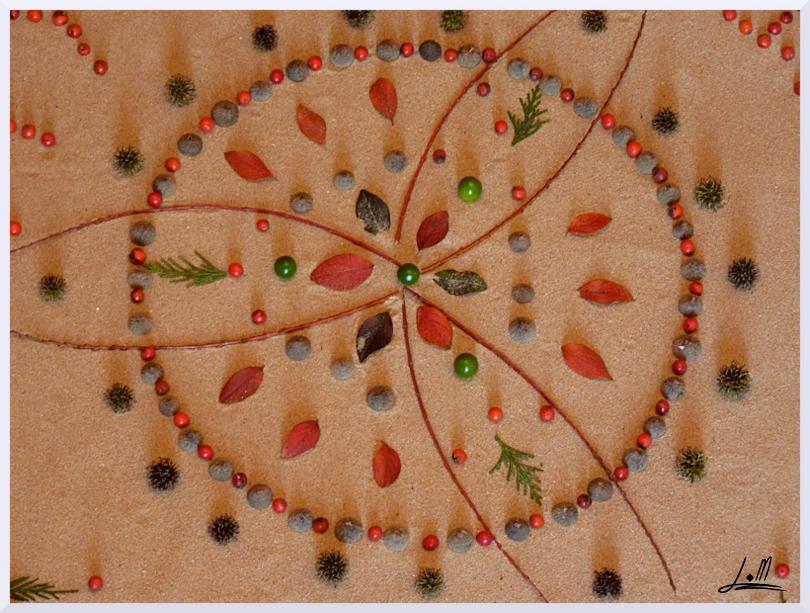 Fresque Land art Happy new year, Michel Jobard