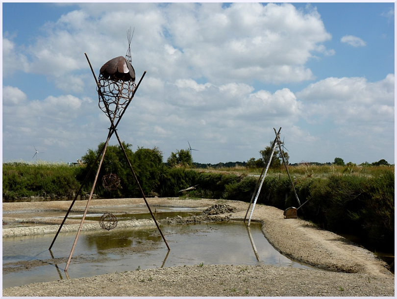 Land art Les elfes de l'eau, Michel Jobard