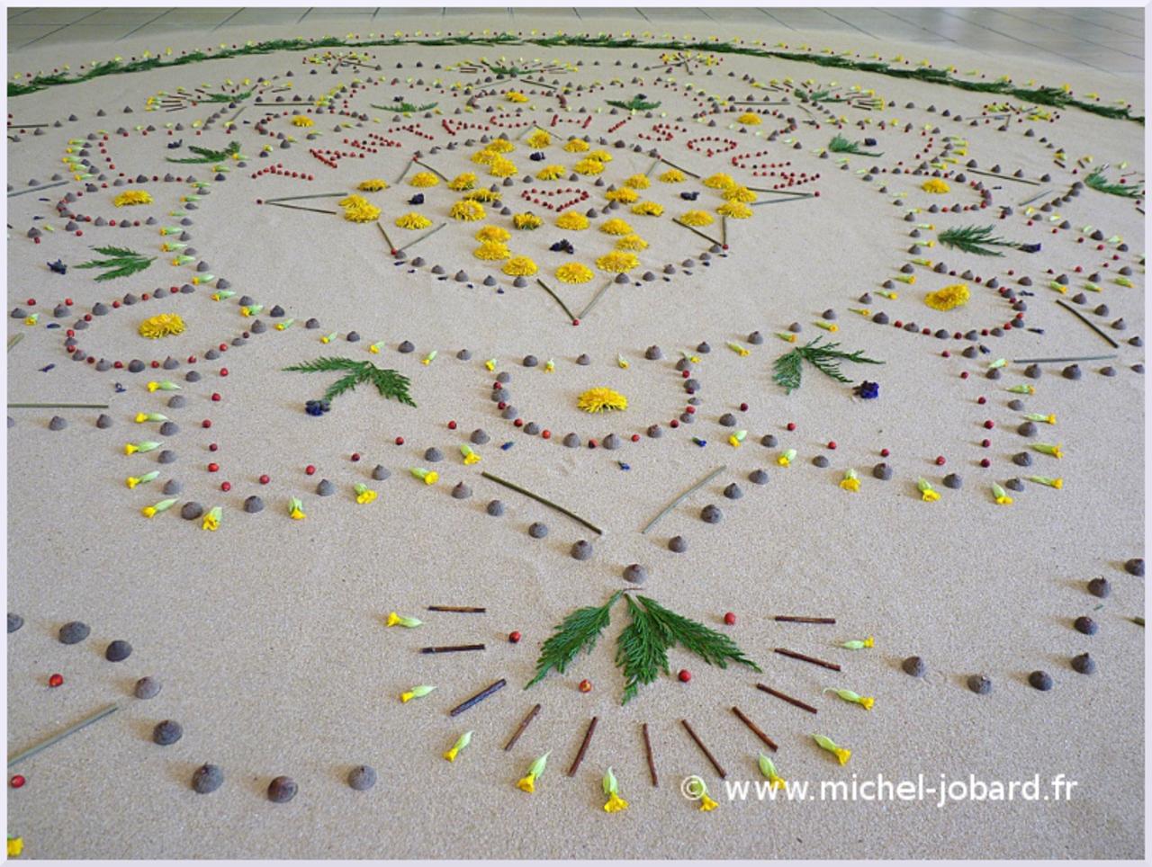 Fresque Land art Tantachisqua, Michel Jobard