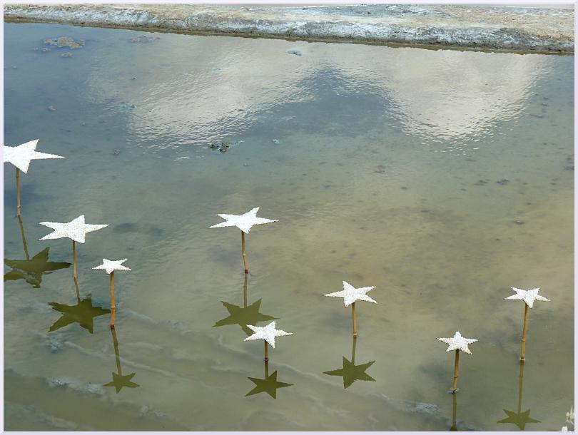 Land art Des étoiles dans le sel, Michel Jobard