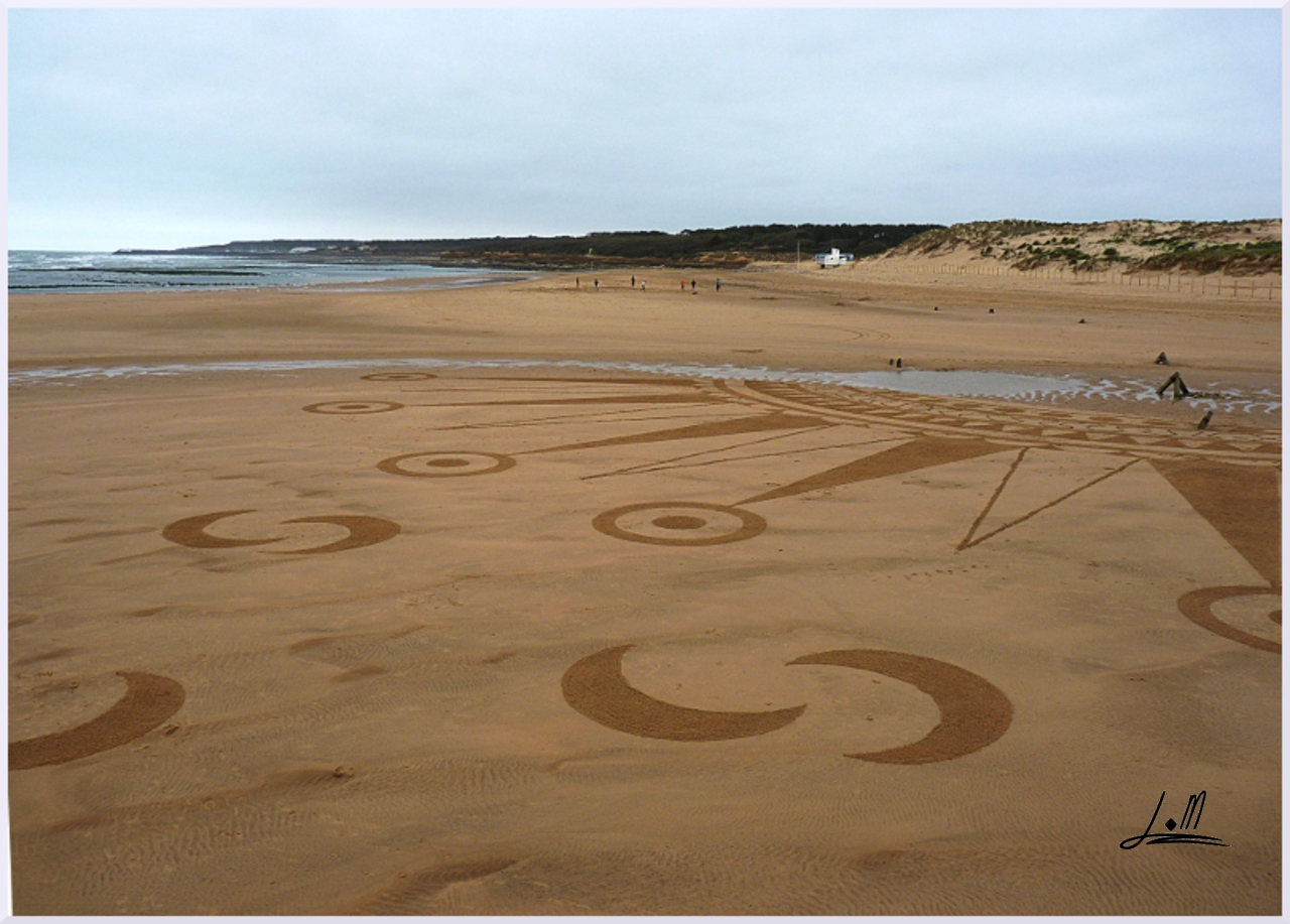 Fresque Beach art Carpe diem, Michel Jobard