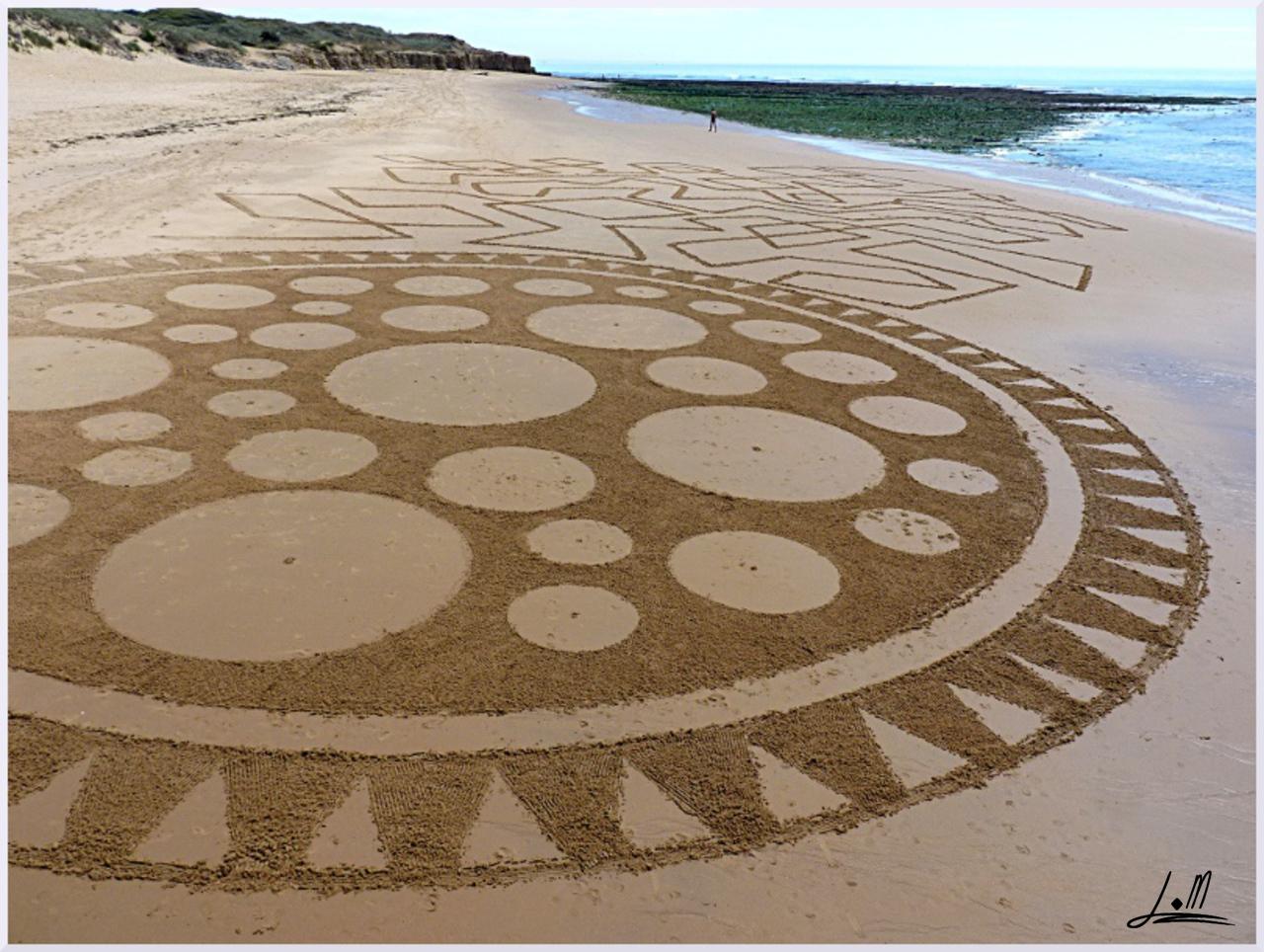 Fresque Beach art LA vie, Michel Jobard
