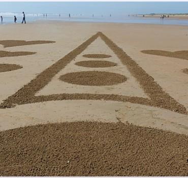 Fresque Beach art Rencontre, Michel Jobard