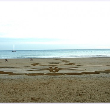 Fresque Beach art Ricochets, Michel Jobard